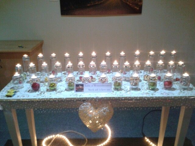 Candles for love ones #safariostrichfarm staff xmas party 2015
