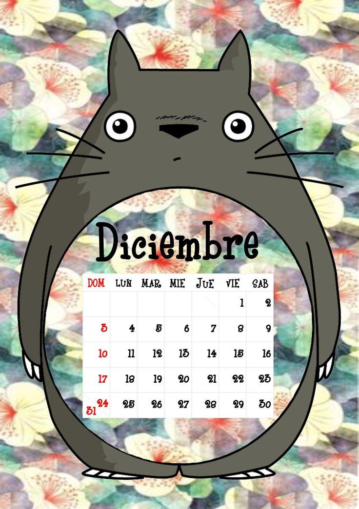 Calendario Totoro 2017 ♦ Diciembre ♦