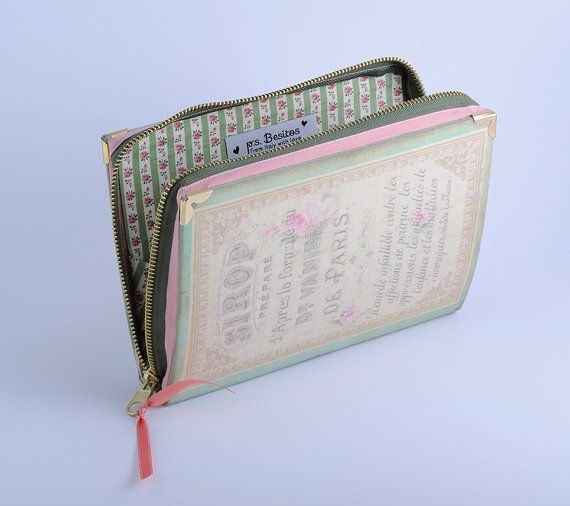 Book Clutch French Paris Perfume by psBesitos on Etsy