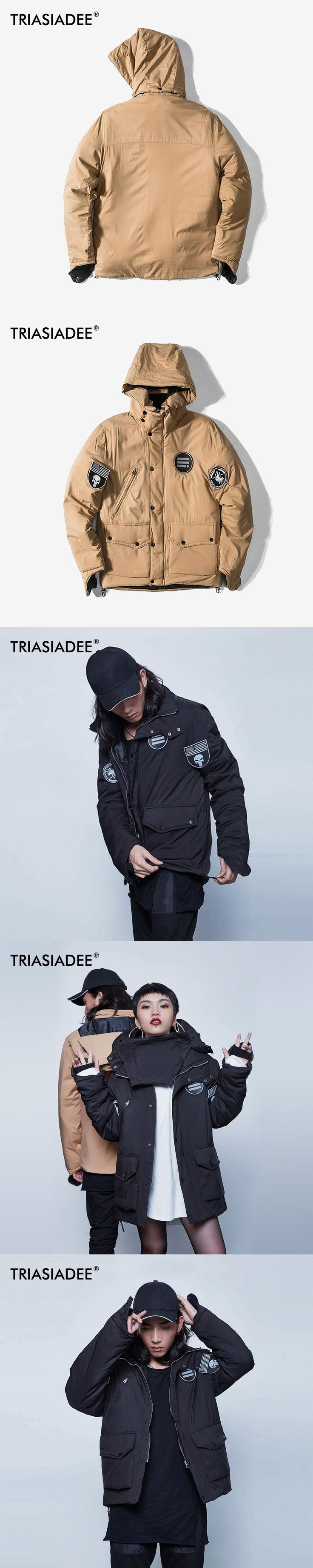 TRIASIADEE MA-1 Men Women Winter Warm Bomber Jacket Coat Male Cold Winter Clothes 2017 Puffer Jacket Parkas Hombre