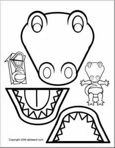 Paper Bag Puppet: Animals- Alligator - preview 1
