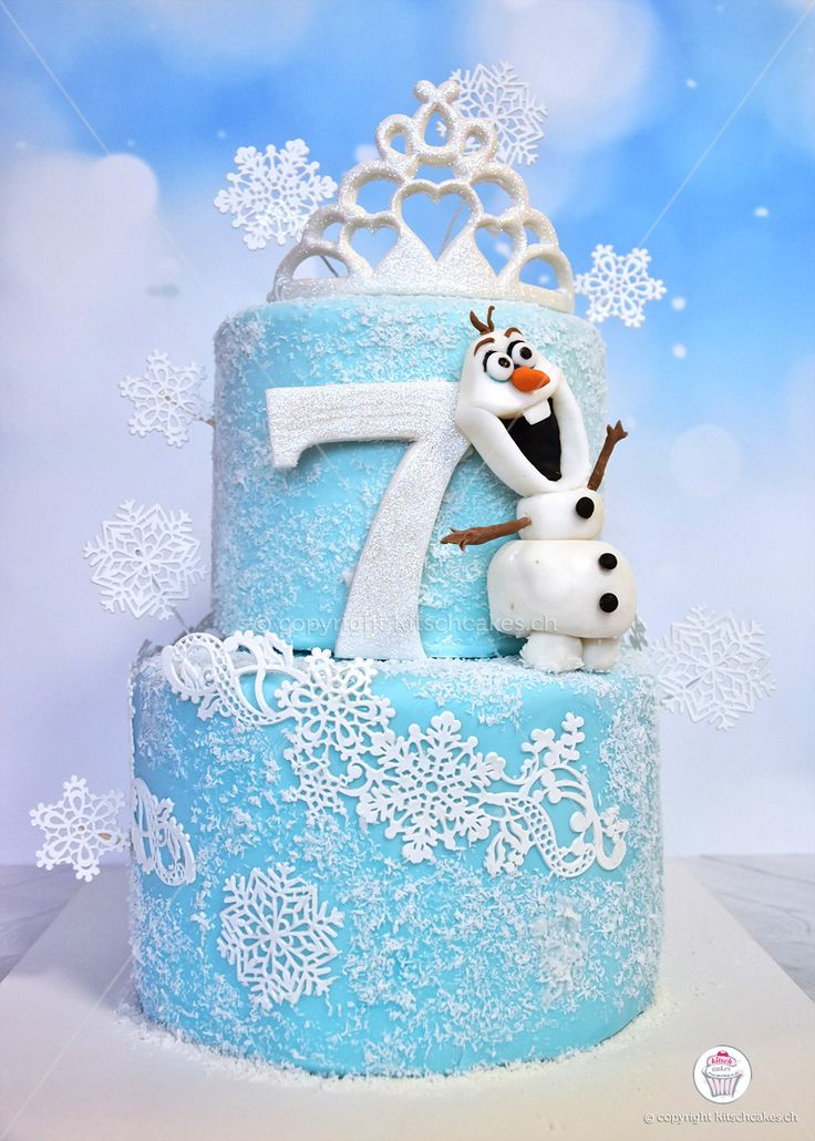 Gâteau la reine des neiges. Frozen cake. Die Eiskönigin Kuchen. Olaf. Elsa…