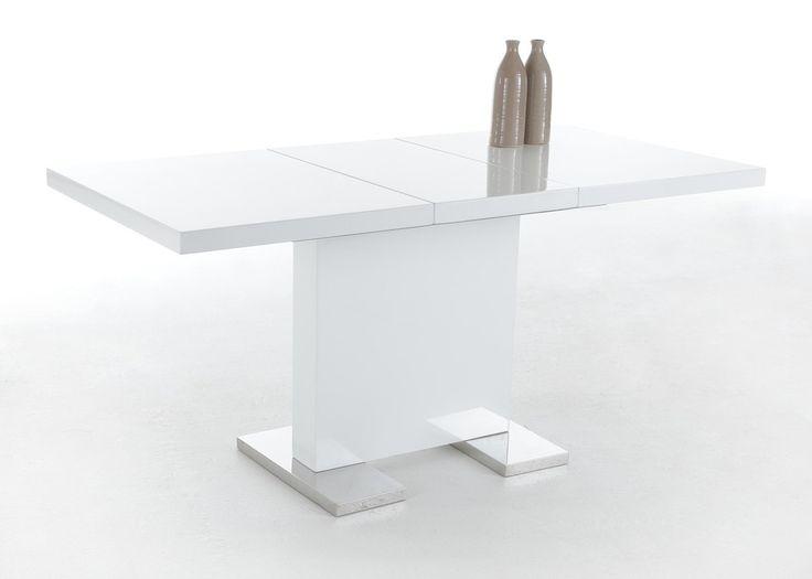 Tischplatte weiß hochglanz  Die besten 25+ Esstisch ausziehbar weiß hochglanz Ideen auf ...