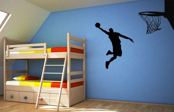 Awesome Basketball Action - Vinyl Wall Art Decal. $42.00, via Etsy.