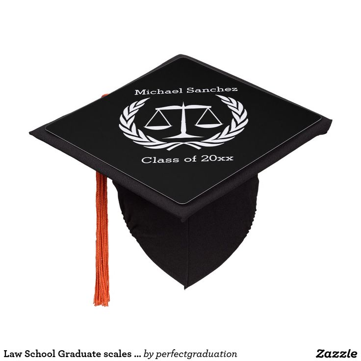 Law School Graduate Scales Of Justice Graduation Cap