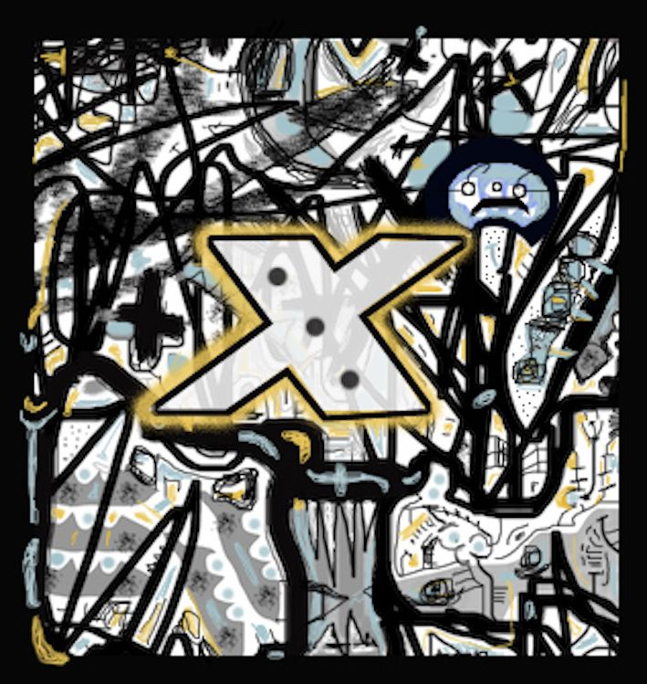 Christopher Russell. Xristo Artworks Gallery. 2017.  The X map.