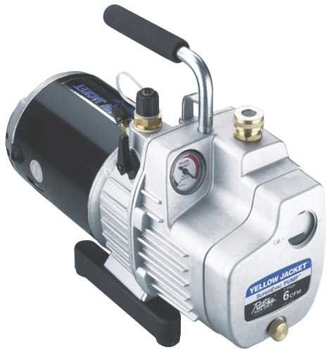 Yellow Jacket 93580 Superevac Vacuum Pump, 8 Cfm. For product info go to:  https://www.caraccessoriesonlinemarket.com/yellow-jacket-93580-superevac-vacuum-pump-8-cfm/