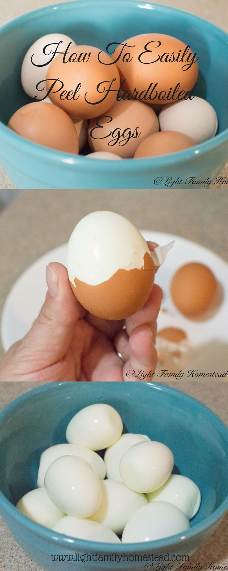how to hard cook an egg that peels easily