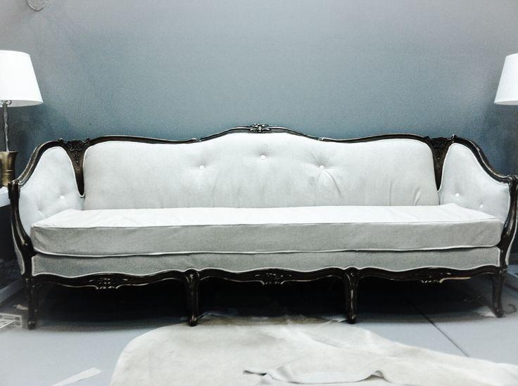 Modern vintage Victorian sofa