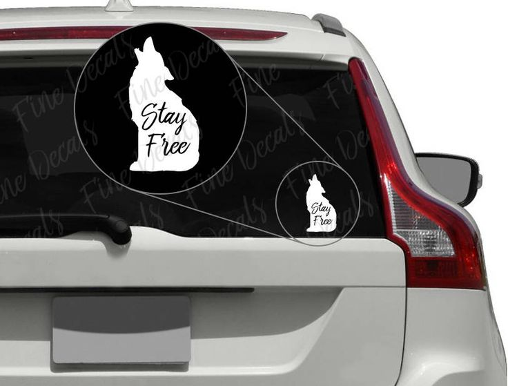 Stay free wolf vinyl decal sticker car decor by finedecalshop on etsy
