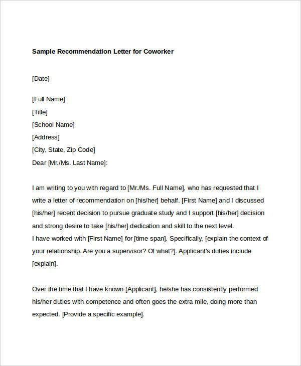 Recommendation Letter For Graduate Student From Employer from i.pinimg.com