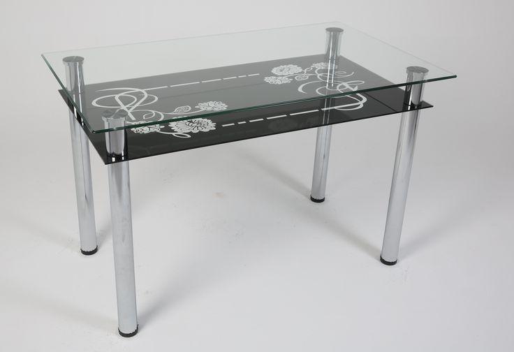 Ürün Kodu: 131 Gül Siyah (İsteğe göre rafı farklı renkler yapılabilmektedir) Glass Table - Cam Masa - Furniture - Mobilya