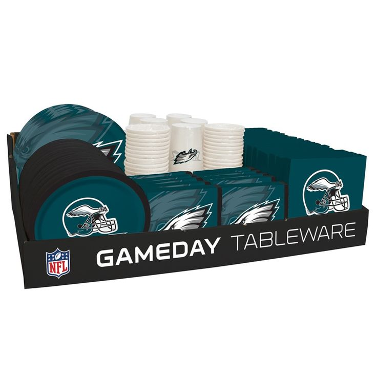 NFL 66 Package Tableware Counter Display Philadelphia Eagles