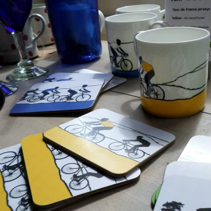 These bike mugs and coasters from The Arts Rooms are flying off the shelves! Holmfirth is bike mad at the moment for the upcoming #TourdeFrance
