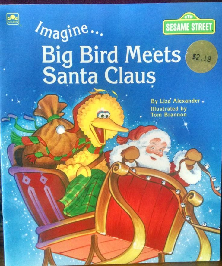 19 best vintage little golden books for christmas kaiservonvintage big bird meets santa claus a vintage golden book by bluekittybooks on etsy fandeluxe Image collections