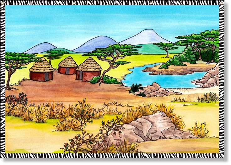 African Savannah themed PVC backdrop. Children will love this backdrop that can be used for pretending to be explorers on a safari. Add your own costumes and hands-on props to further encourage their imaginative play, their curiosity and spark their enthusiasm to learn more about African animals.