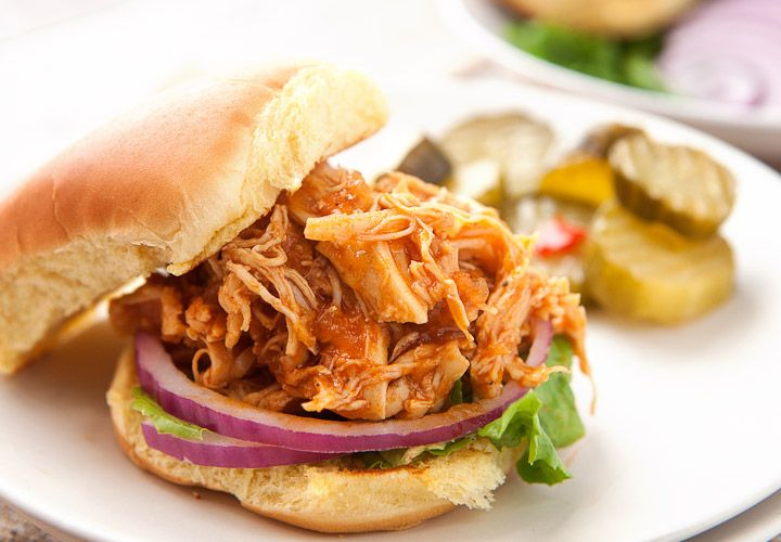 BBQ Chicken Sloppy Joes! The perfect quick weeknight meal. Good for those busy back-to-school nights or any day you're in need of a quick, filling dinner!