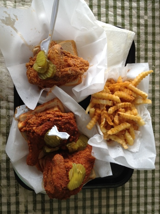 Prince's Hot Chicken Shack in Nashville, Tennessee for their famous hot chicken, loaded with cayenne and secret spices  Amazing Eats, season 1