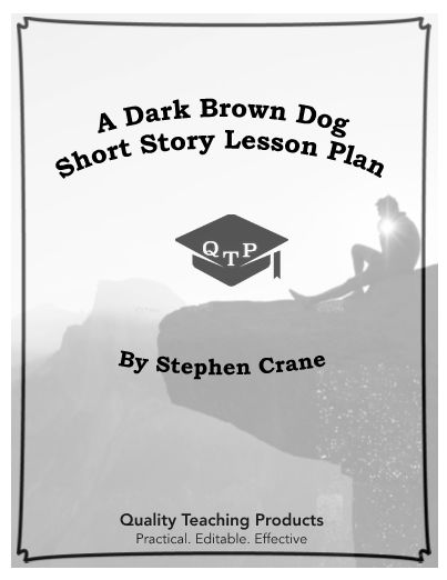 a dark brown dog by stephen crane Stephen crane writes a tragic story depicting the cycle of abuse, and the impact it has on those involved a young boy finds a homeless dog, desperate for love, and brings him into his home.