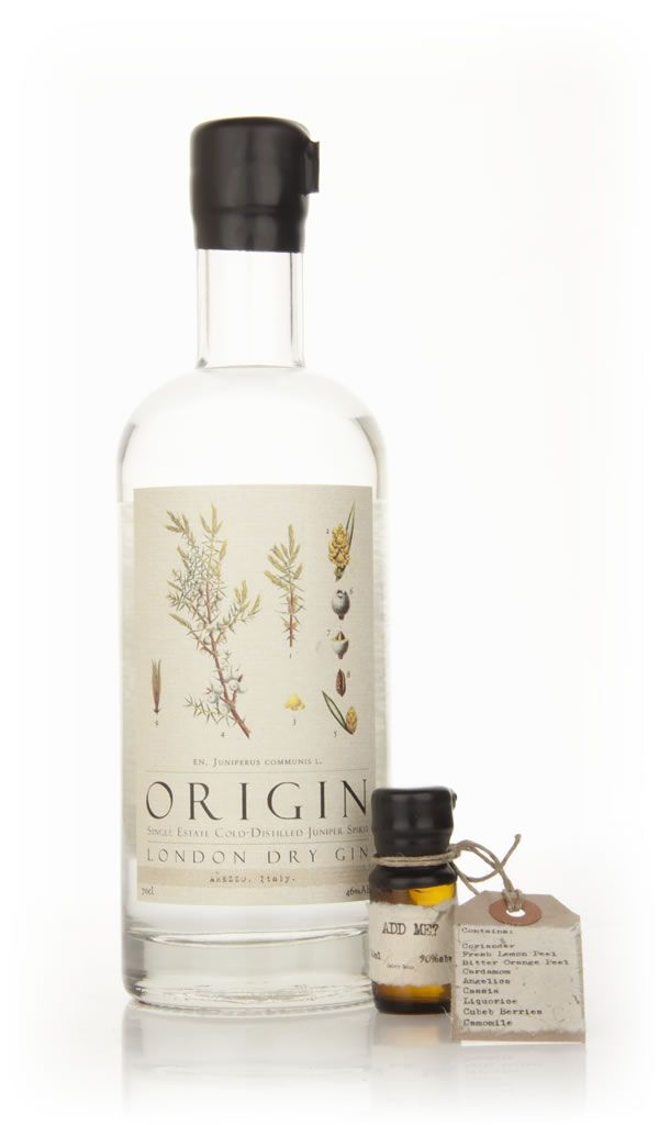 Origin gin – gin made from Juniper from one specific location; for example from Meppel, The Netherlands or Arezzo, Italy