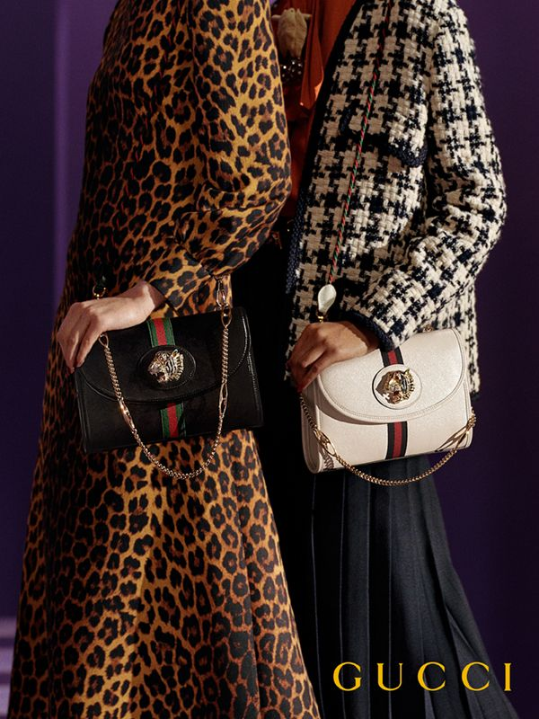 8c108e372533 An addition to the Rajah line for Spring Summer 2019, the medium leather  shoulder bag features the collection's defining colored enamel and crystal  tiger ...
