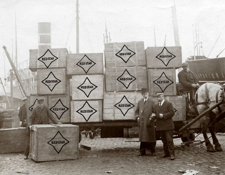 Reclame. Vervoer van partij Red Starschoencrême in Rotterdam. 1913. Nederland