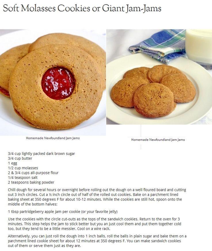 Jam Jams - Soft Molasses Cookies