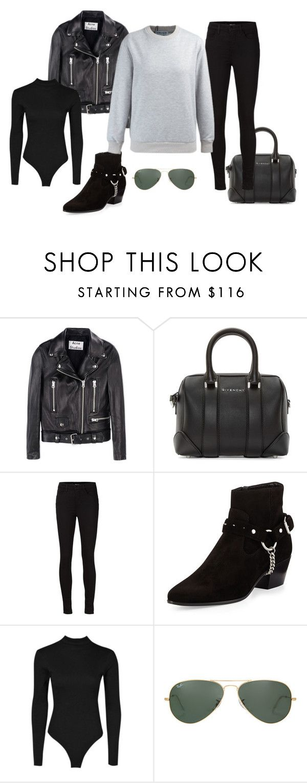 """""""KENDALL JENNER STREETSTYLE"""" by iamamaven on Polyvore featuring Acne Studios, Givenchy, J Brand, Yves Saint Laurent and Ray-Ban"""