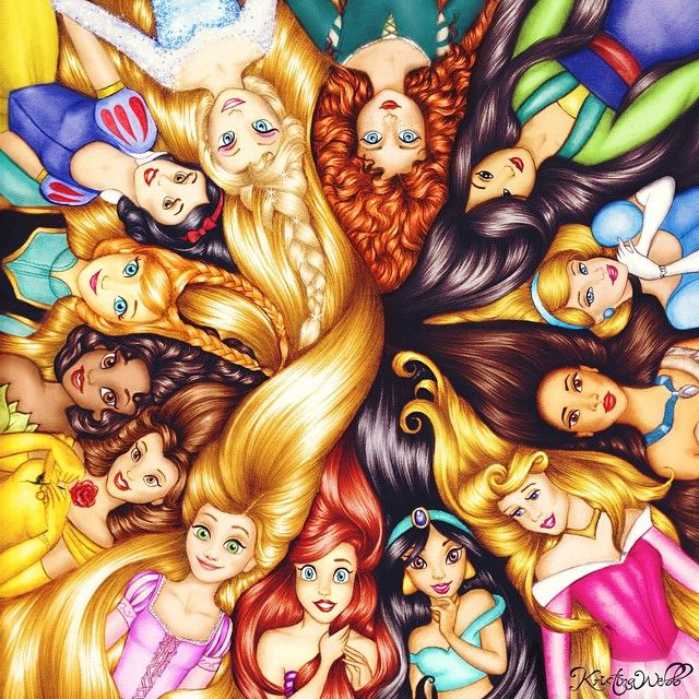 New drawing and it's all about my two favourite things.. DISNEY and HAIR! Double-tap ... | Use Instagram online! Websta is the Best Instagram Web Viewer!