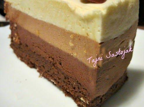 Torta satkana od tri vrste čokolade mami uzdahe i budi sva čula. Kao što joj samo ime kaže, prava je čokoladna rapsodija. Kraljevski ukus k...