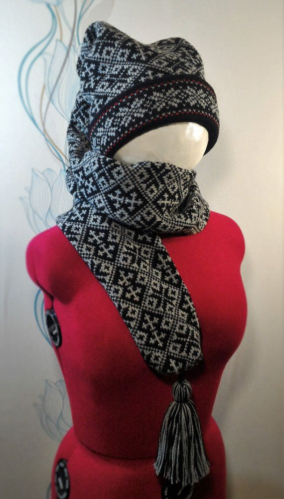 NEW Super Long stocking cap long tail for adult scarf by LanaNere