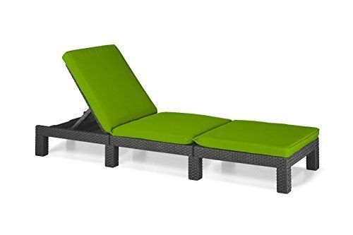 Lime Green Replacement Seat Cushion for Keter Allibert Daytona Sun Lounger *Lounger not included*