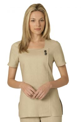 Chic tunic - Natural linen Cool and breathable, ideal for summer £37 #spauniforms #salonuniforms #summer