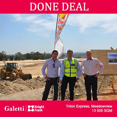 Congratulations to Justin Thom! He's concluded a 13 500 square metre deal in Meadowview with Triton Express, who are undertaking a joint venture development with Intaprop.