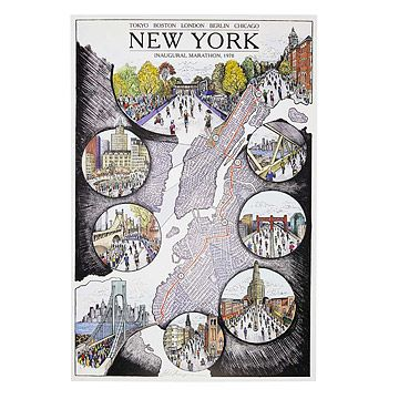 Look what I found at UncommonGoods: New York Marathon Map for $28.00