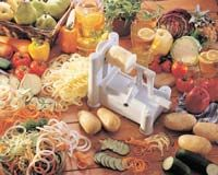 This is by far my most favorite kitchen tool! I use it for all my veggie pastas. Love it!   Paderno World Cuisine A4982799 Tri-Blade Plastic Spiral Vegetable Slicer
