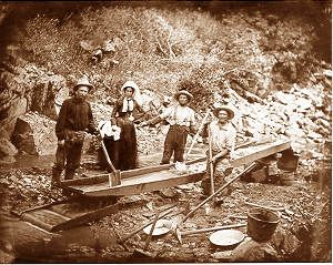 Woman at Auburn Ravine, gold rush california. Photo courtesy California State Library