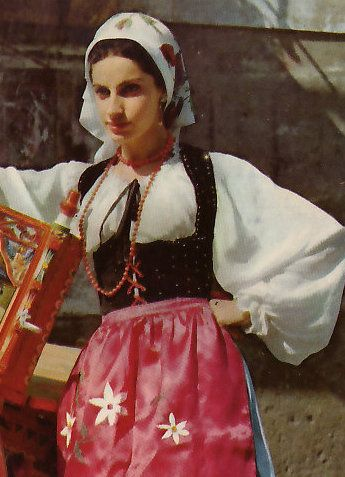 Sicily traditional dress.