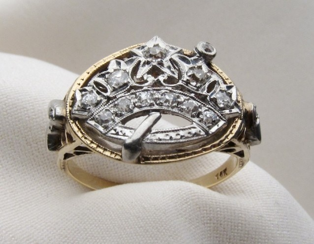 Antique Diamond Eastern Star Ring Isadora S Antique
