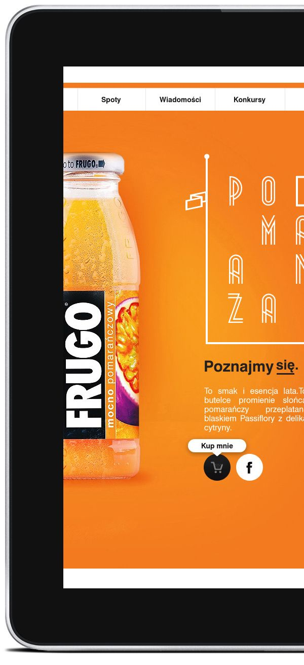 Party, with Frugo. Web proposal. by Piotr Kazmierczak, via Behance