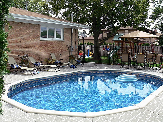 Backyard pool images ideas for landscaping the yard for Pool surround ideas