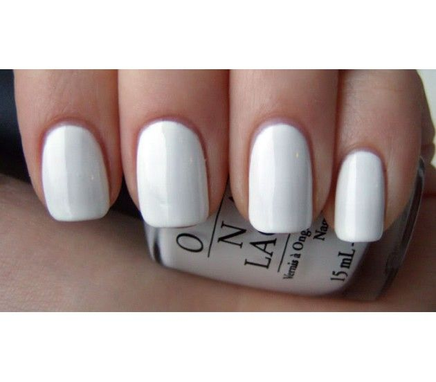 "OPI ""Alpine Snow"" gel polish. Beautiful, crisp white. Love!"