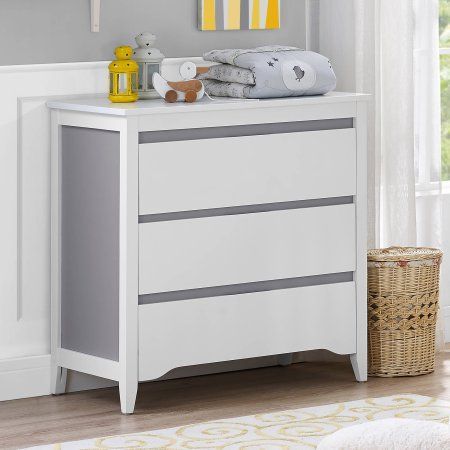 Baby Relax Aaden 2-Toned 3-Drawer Dresser, Gray