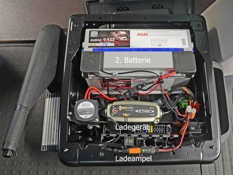 2 Batterie  VW T5 / T6 12V Steckdose & 230V Steckdosenleiste FI - Schutzschalter