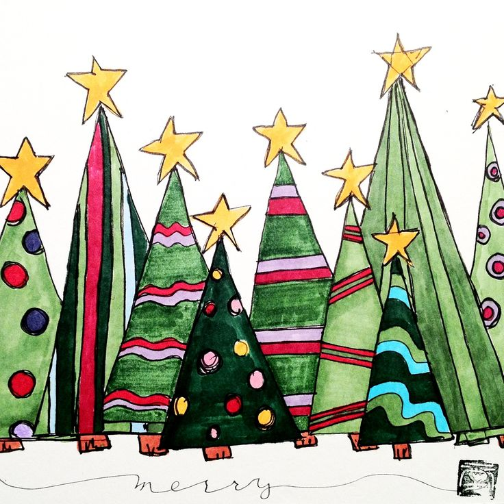 juletr er weihnachten weihnachten gem lde aquarell. Black Bedroom Furniture Sets. Home Design Ideas