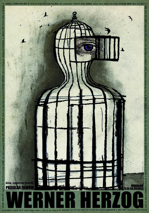 Werner Herzog - Przeglad Filmow Original Polish film poster designer: Ryszard Kaja year: 2012