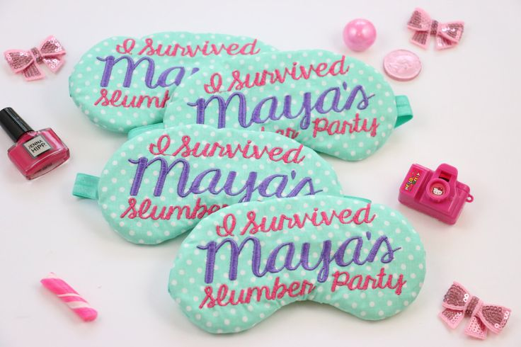 Custom Slumber Party Favors Sleep Mask Personalized Personalized Tween Pajama Party Decorations by TheSleepyCottage on Etsy https://www.etsy.com/listing/235639174/custom-slumber-party-favors-sleep-mask