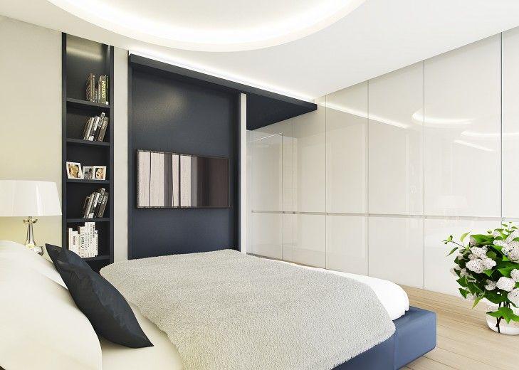 Projekt luksusowej sypialni w rezydencji w Jaroszowej Woli.
