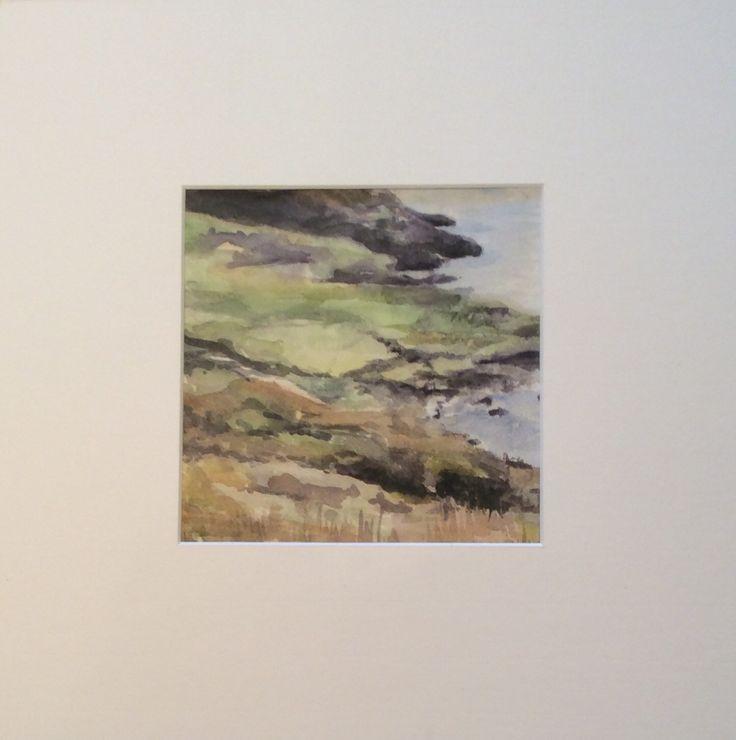 Landschap in West Ierland - aquarel - Nadie