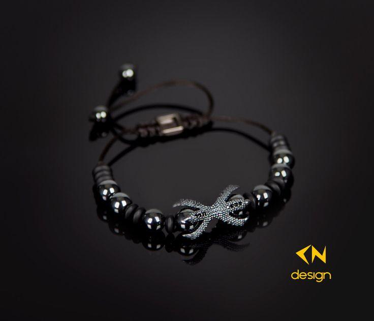 Claw - Onyx & Hematite Bracelet by Cndesignofficial on Etsy https://www.etsy.com/listing/256884888/claw-onyx-hematite-bracelet